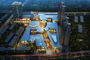 建筑表现培训作品-商业街夜景