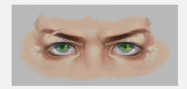 动漫制作培训|原画课堂-男性眼睛